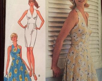 Sexy Halter Dress Pattern---Style 2740---Sizes 6-16  UNCUT
