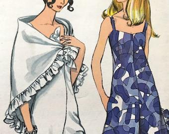 Fabulous Vintage Jumpsuit and Stole Pattern---Vogue 7334---Size 14  Bust 36  UNCUT