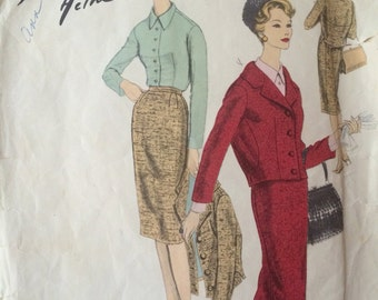 ON SALE Rare Classic Vogue Paris Original Blouse and Suit Pattern by Jacques Heim---Vogue 1469