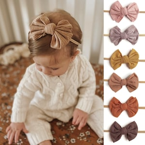 Baby Girl Spring Bow Set  Newborn Baby Girl Bows  Child Bows  Toddler Bows  Girl Hair Clips  Baby Shower Gift Idea  Set of Three