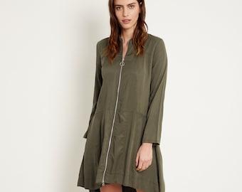 Robe de soiree longue vert olive