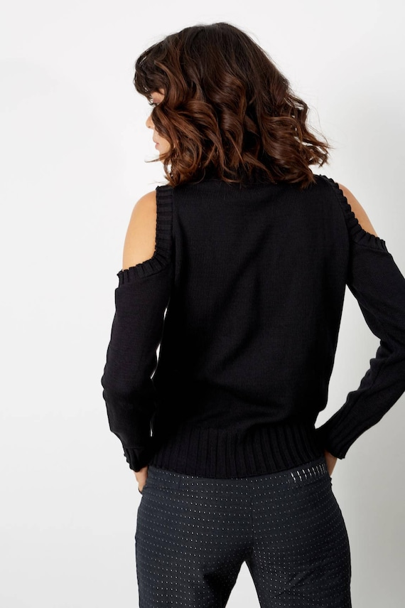 the Clothing Off Womens Womens Fall Fall Clothes Unique Sweater Knit shoulder clothing Shirts Sweaters 4r4H0Pp8