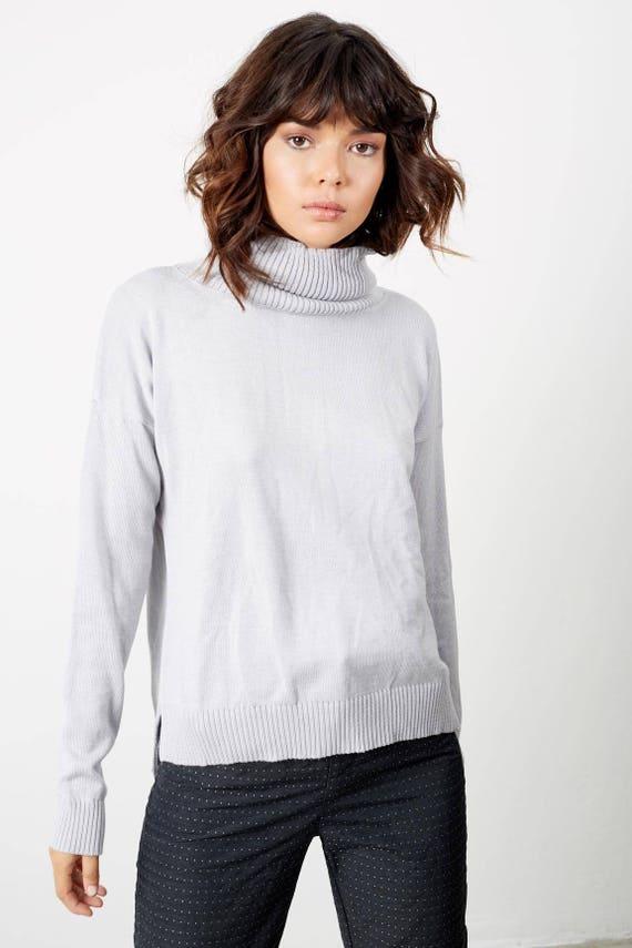 Fall Shirts Clothes Womens Gray Clothing Womens Sweater clothing Turtleneck Sweater Turtleneck Sweaters Fall Knit x67p7CUwq