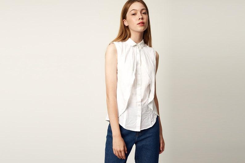 b872879632b Women Top White Shirt Blouse White Women Shirt Summer