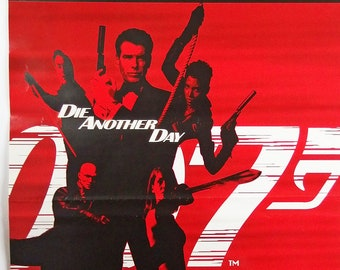 "007 ""Die Another Day"" (James Bond). Vintage Movie Poster. Film Poster. Original Movie Poster. James Bond Poster. Japanese Poster.  Poster."