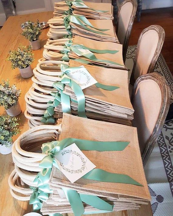 50 Large Rustic Elegant Burlap Wedding Hotel Welcome Bags Etsy