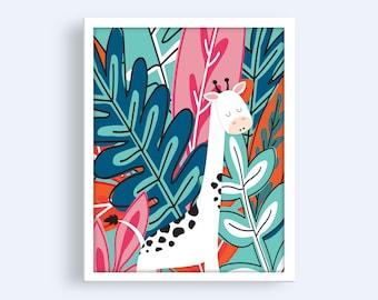 Nursery Jungle Prints, Playroom Wall Art Printable, Nursery Wall Art, Colorful Nursery Prints, Nursery Prints, Nursery Wall Decor