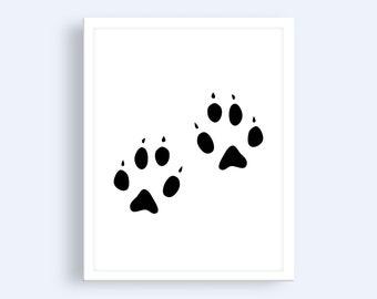 Bear Paw Print | Woodland Print | Woodland Nursery Print
