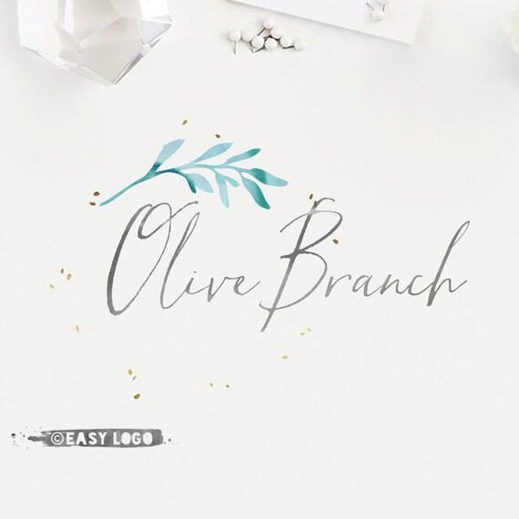 Olive Boutique Logo  Elegant Gold Confetti Logo