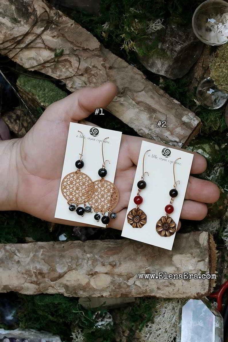 Hippy Earrings Bohemian Earrings Leaf Earrings 2 Sets of Spirit Earrings Crystal Earrings Gypsy Earrings Wild Woman Earrings