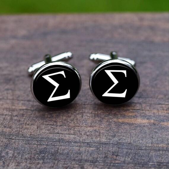 Mathematical Sigma Symbol Cufflinks Sigma Symbol Math