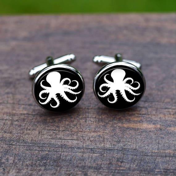 Kiola Designs Silver Toned Octopus Cufflinks
