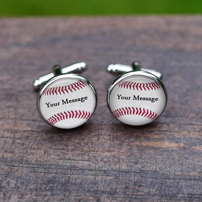 Men/'s Accessories wedding antique silver Tie clips Baseball Cufflinks Name Jersey Number Team Custom Text Wedding Cufflinks