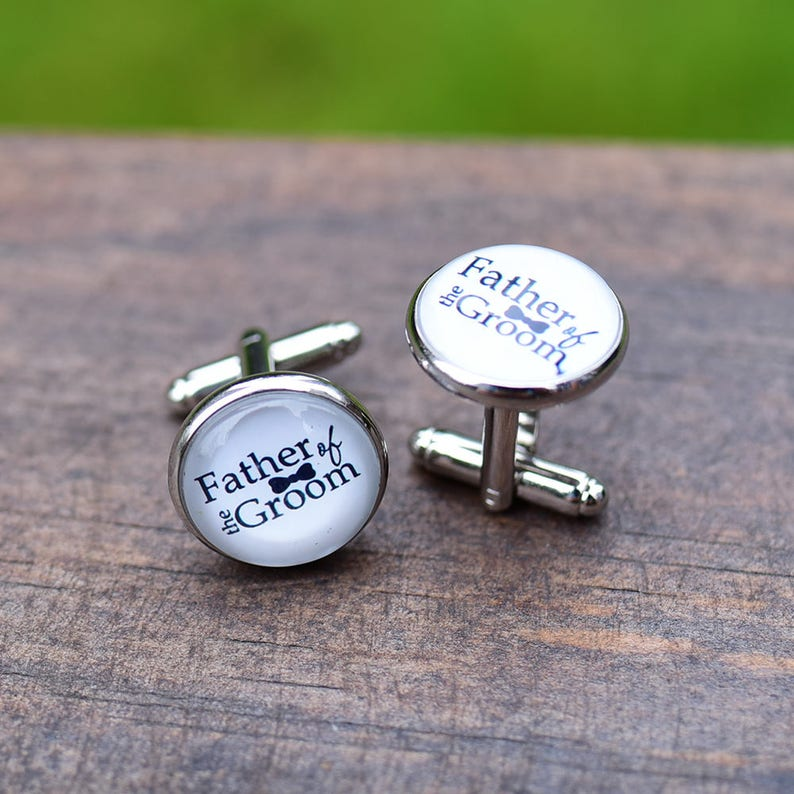 groomsmen Cufflinks tie bar tie pin Accessories Monogrammed cufflinks and tie clip Silver Personalized Gift initial letter studs