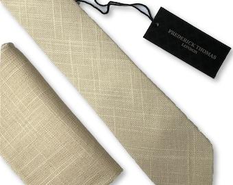 c83279259dda0 Cream linen necktie | Etsy