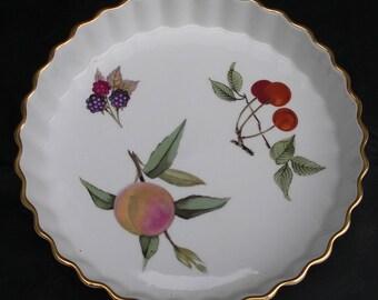 Royal Worcester Flan Dish. Vintage Dish