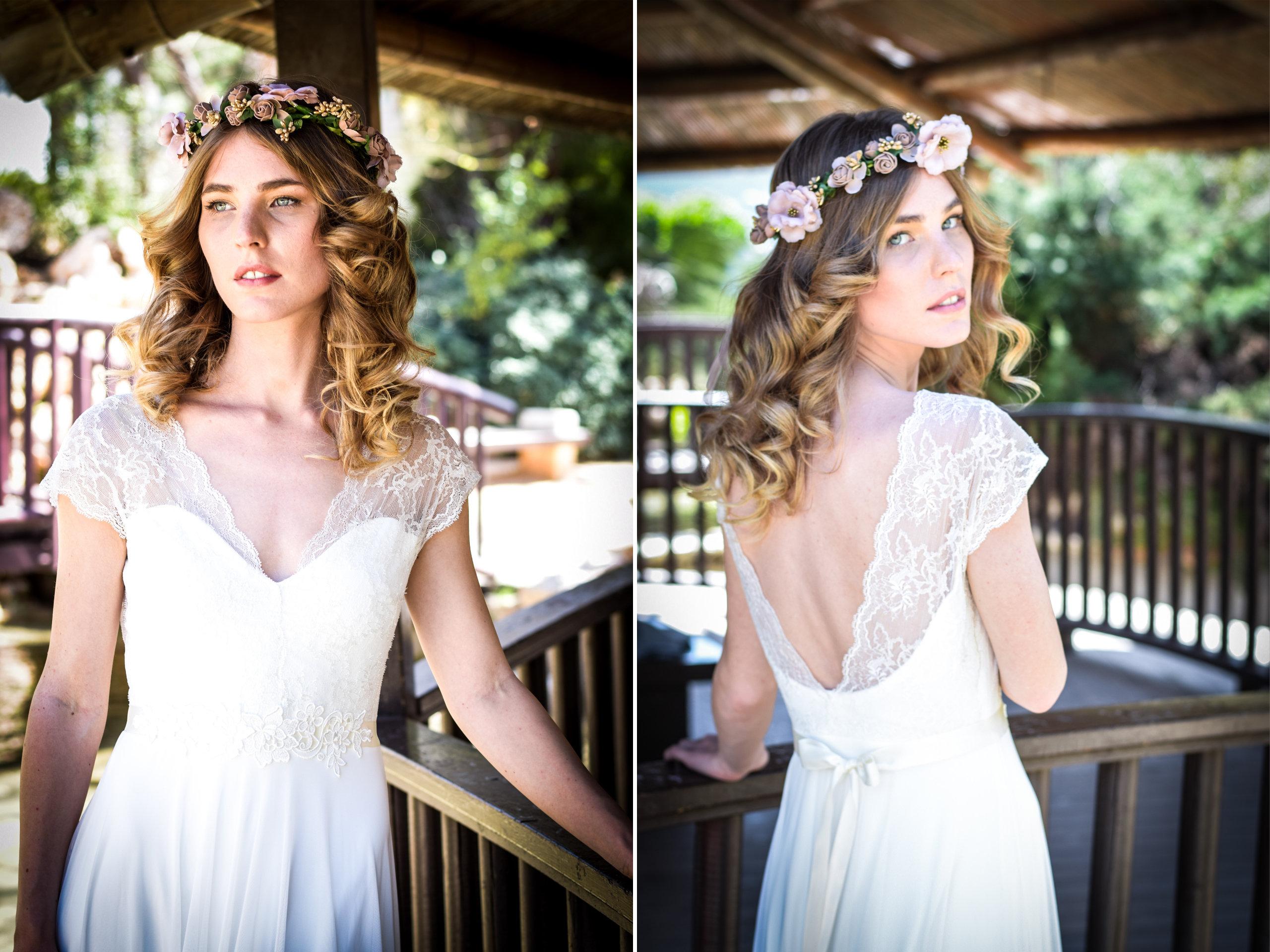 Simple Wedding Dress. Romantic Wedding Gown Boho Dresses