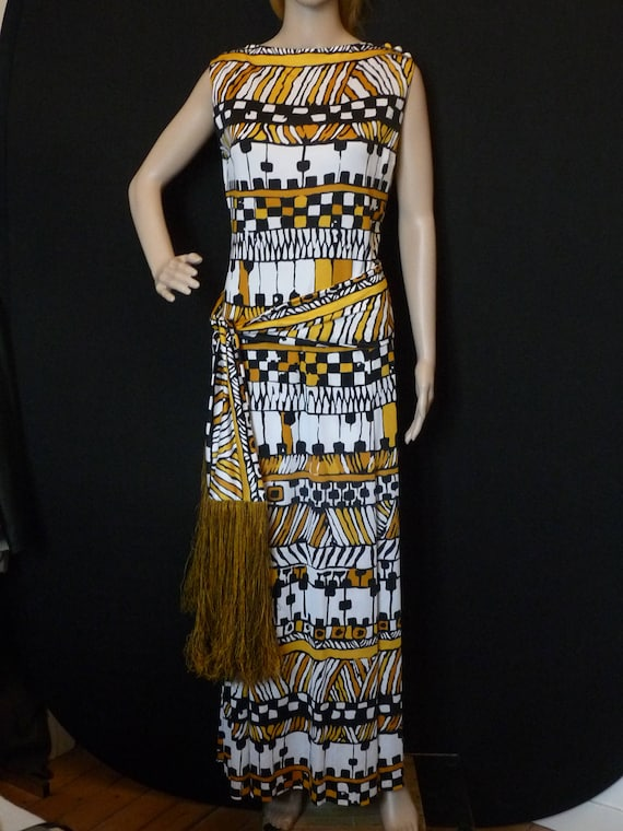 TRICOSAT - long jersey dress - size 38