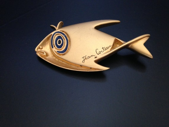 Jean Cocteau - fish brooch/pin - creation Anne Mad