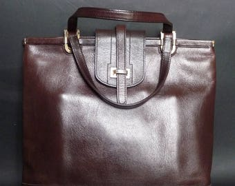 VIMAR - handbag - vintage 80s brown leather