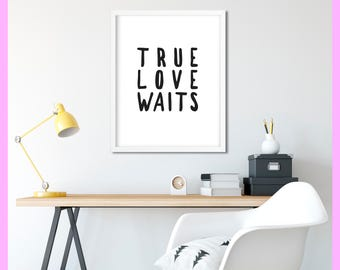 Radiohead - True Love Waits - Lyrics - Thom Yorke - Quote - Minimal - Printable - Print - Decor - WALL ART - Digital Download