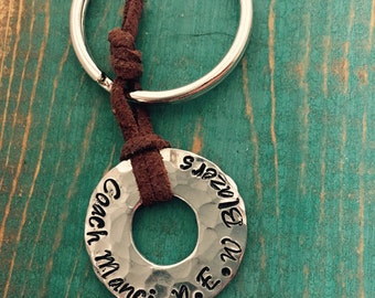 Coach's keychain stainless steel coach gift favorite coach best coach
