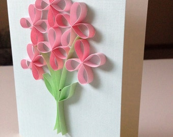 Quilled Flower bouquets card