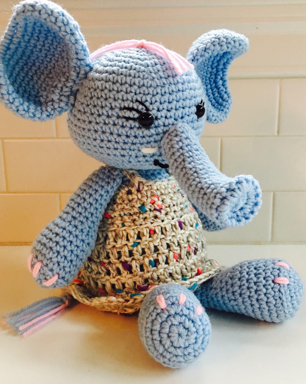 Ella, the Elephant amigurumi pattern by Elfin Thread | Crochet ... | 3000x2386
