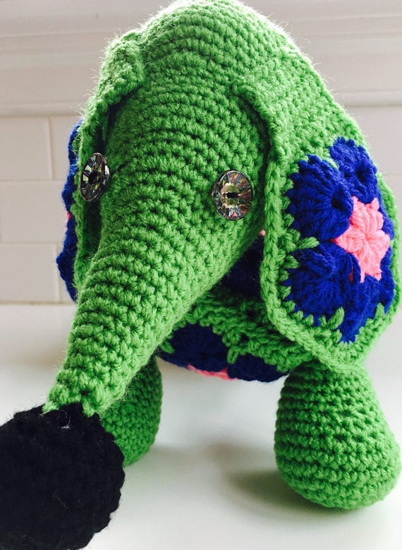 Crochet African Flower Dachshund Crochet Dog Large Knit Etsy