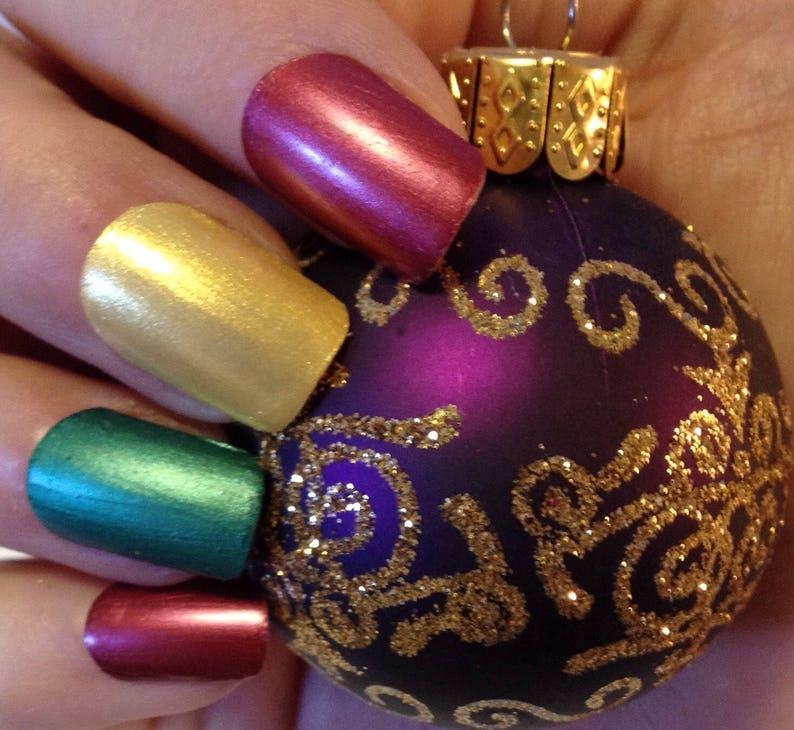 Bright And Fun Nail Polish Set Gift For Her Hostess Gift Etsy