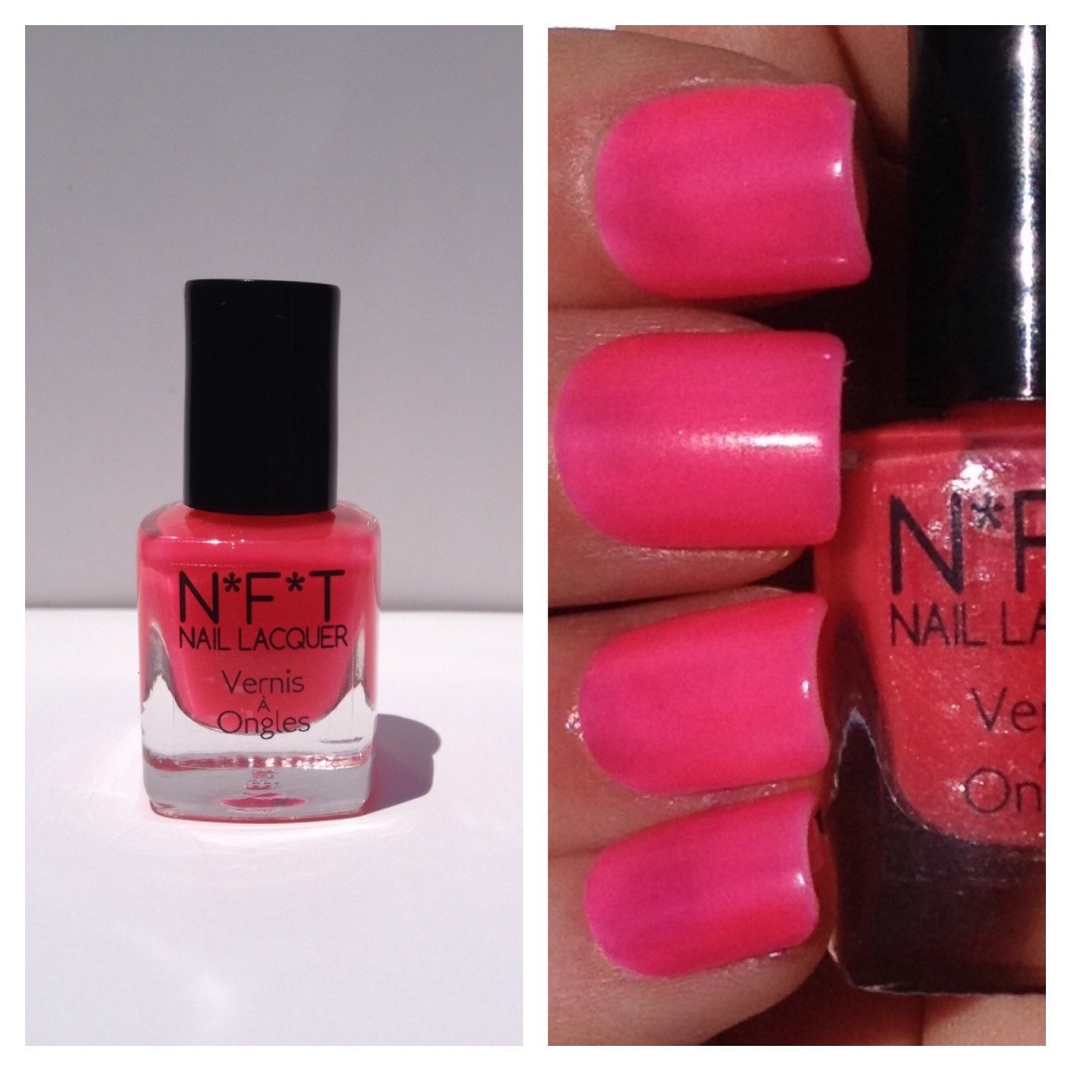 N88 Electric Pink Neon Nail Polish / Indie Lacquer