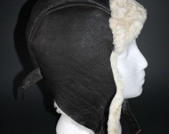 d8ec860c Sheepskin Aviator Trapper Hat by Crown Cap Signature Size Large