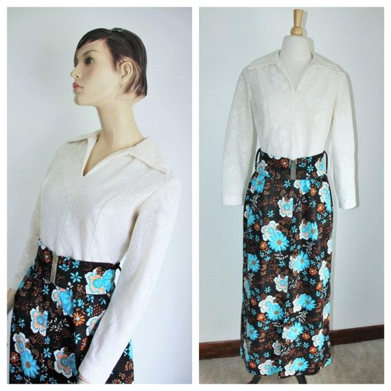 Hostess Maxi Dress Size Medium Vintage 1960's