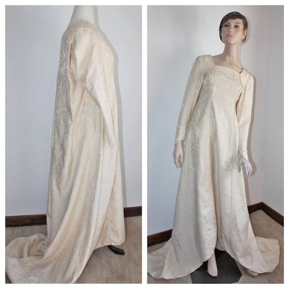 Renaissance Style Wedding Dress, Vintage 1940's