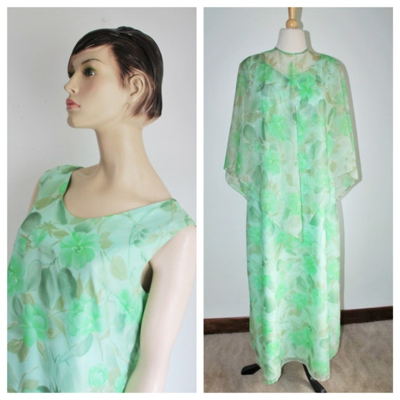 Vintage Chiffon Maxi Dress, Dress Town Original, 1