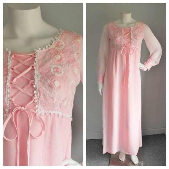 Vintage 1960's Pink Gown