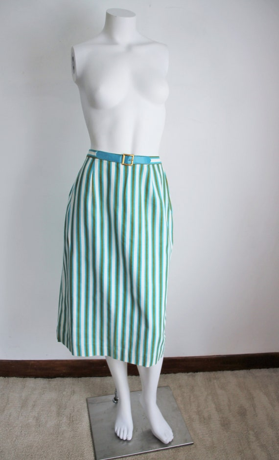 Vintage 1950's Striped Skirt by Kerrybrooke, Size