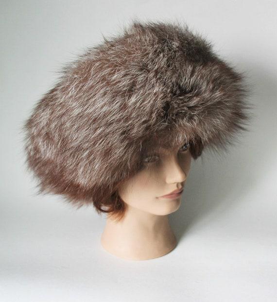 Vintage Cossack Hat,  Wide Fur Brim