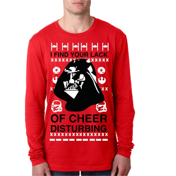 Star Wars Ugly Christmas Sweater I Find Your Lack Of Cheer Disturbing Darth Vader May The Force Be With You! MhZbKz6