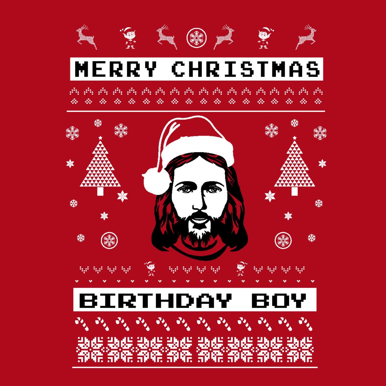 Birthday Boy Jesus Ugly Christmas Sweater Red Party Sweatshirt | Etsy