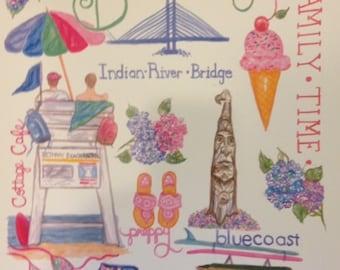 Bethany Beach Delaware Print
