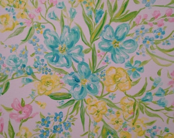 Lilly pulitzer inspired large original painting 30 X 40 inches