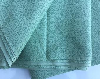 "Jinny Boyer green quilting fabric 45"" wide x 3 5/8 yards long"
