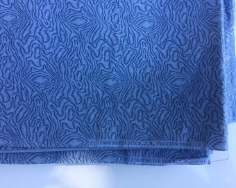 """Jinny Boyer blue quilting fabric 45"""" wide x 2 5/8 yards long cotton"""