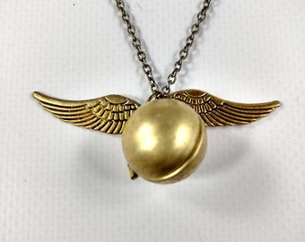 Harry Potter Inspired Snitch Locket Necklace