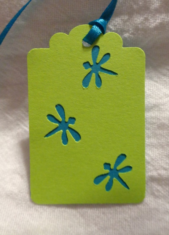 Dragonfly Gift Tag Dragonfly Gift Tie Dragonfly Decorations Etsy