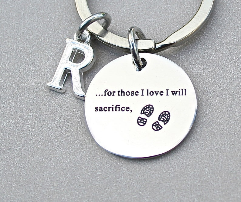 Quote Keychain For Those I Love I Will Sacrifice Etsy