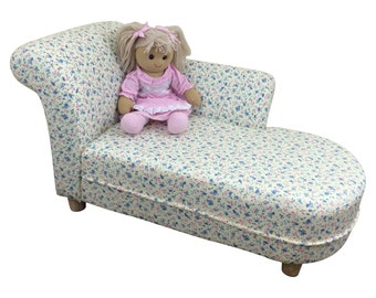 Kids Toddler Children's Chaise Lounge Sofa Chair. Floral Fabric. Free UK Shipping