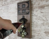Personalized Bottle Opener, Magnetic Cap Catch, Christmas Gift, Wedding Gift, Groomsmen Gift, Man Cave, Groomsman