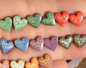 red heart earrings stud, red heart jewelry valentines day gift Stud earrings tiny stud, love gifts for her minimalist earrings kids earrings